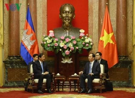 Presidente vietnamita recibe al ministro camboyano de Asuntos Exteriores y Cooperación Internacional - ảnh 1