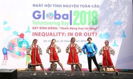 Celebran en Hanói el Día Mundial del Voluntariado 2018  - ảnh 1