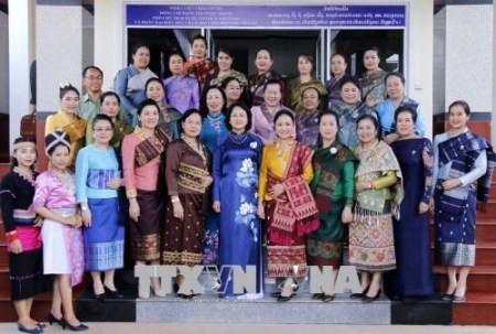 Vicepresidenta vietnamita recibe al presidente de la Asociación de Amistad Laos-Vietnam  - ảnh 1