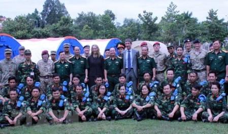 Vietnam servirá de base de entrenamiento de las fuerzas de mantenimiento de la paz de la ONU - ảnh 1