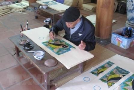 Vietnam busca reconocimiento de Unesco para pintura popular Dong Ho - ảnh 1
