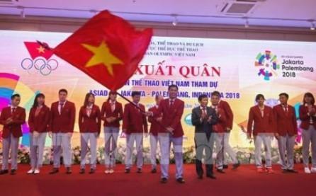 Ceremonia de despedida a los atletas vietnamitas participantes en los Juegos Asiáticos 2018 - ảnh 1