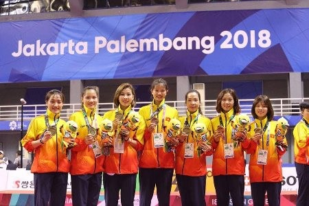 Vietnam logra medalla de plata en Sepak Takraw femenino - ảnh 1