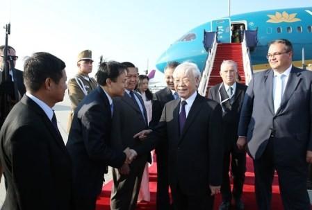 Líder partidista vietnamita comienza visita oficial a Hungría - ảnh 1