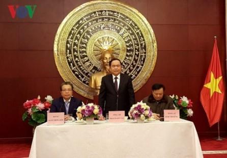 Líder del Frente de la Patria de Vietnam visita China - ảnh 1