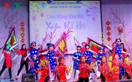 Vietnamitas en ultramar preparan para Tet 2019 - ảnh 1