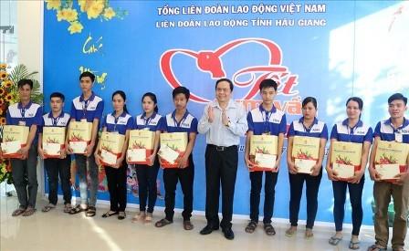 Presidente del Frente de la Patria de Vietnam visita provincia de Hau Giang - ảnh 1