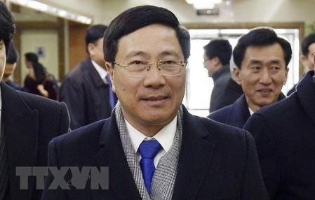 Canciller vietnamita inicia visita official a Corea del Norte  - ảnh 1