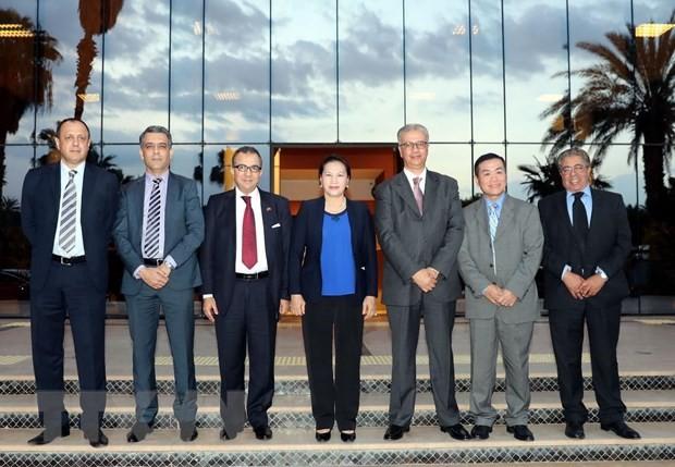 Jefa del Parlamento de Vietnam se reúne con gobernador de la región de Marrakech - ảnh 1