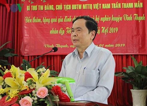 Presidente del Frente de la Patria de Vietnam felicita al Día de Vesak 2019 - ảnh 1