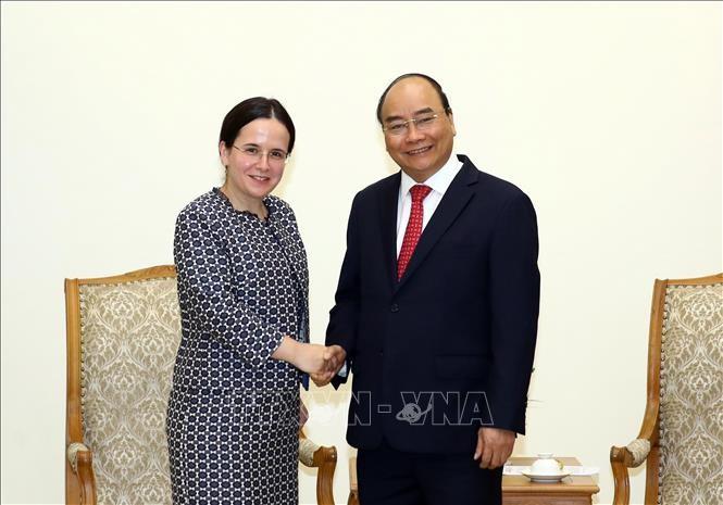 Primer ministro vietnamita recibe a altos funcionarios de Rumania y Austria - ảnh 1
