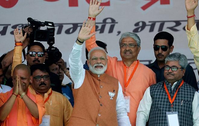 Líderes mundiales congratulan la victoria del primer ministro indio en las elecciones   - ảnh 1