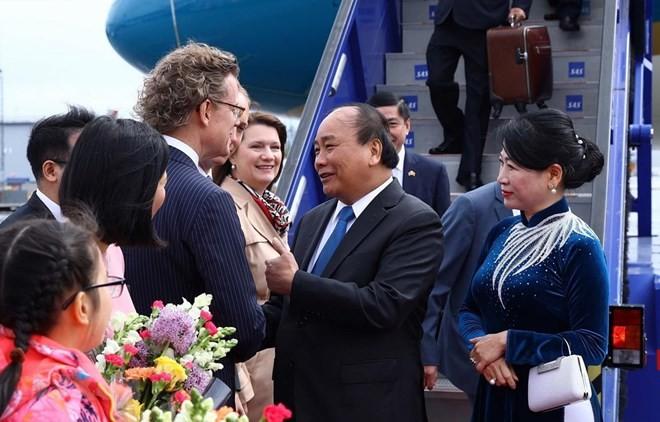 Primer ministro de Vietnam comienza su visita a Suecia  - ảnh 1