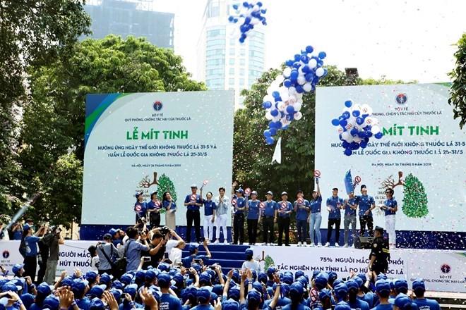 Celebran en Vietnam Día Mundial Sin Tabaco  - ảnh 1