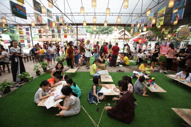 Programa infantil de verano en el Templo de la Literatura  - ảnh 2