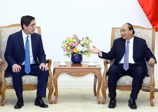 Premier de Vietnam recibe a gran inversor filipino - ảnh 1
