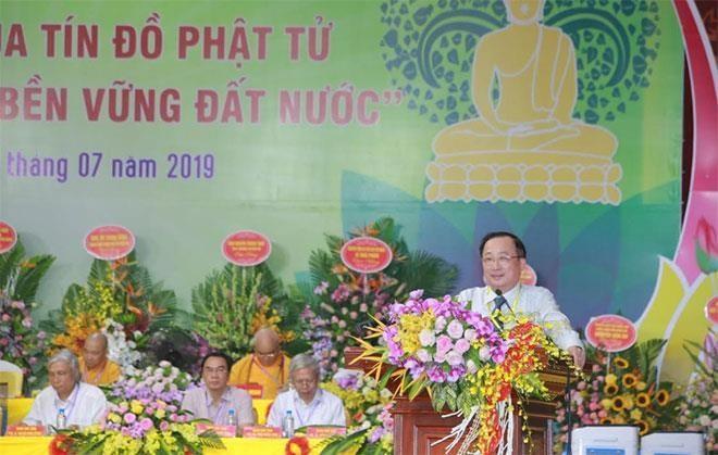 Debaten sobre papel del budismo en el desarrollo sostenible de Vietnam - ảnh 1