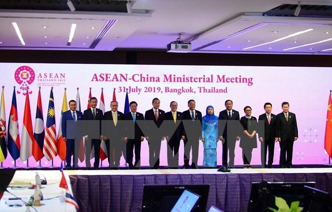 Jefes diplomáticos de Asean y China reunidos en Bangkok - ảnh 1