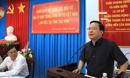 监督茶荣省和永隆省的选举准备工作 - ảnh 1
