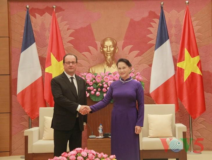 阮氏金银会见法国总统奥朗德 - ảnh 1