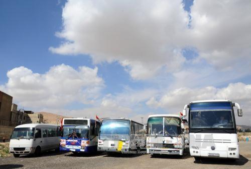 叙利亚:人道主义救援物资进入叙利亚东古塔地区 - ảnh 1