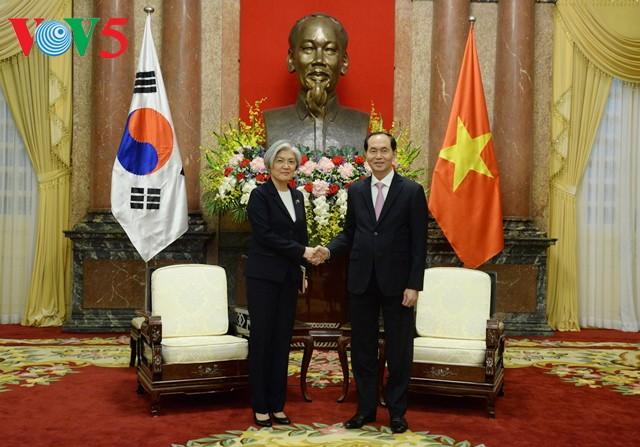 陈大光会见韩国外交部长官康京和 - ảnh 1