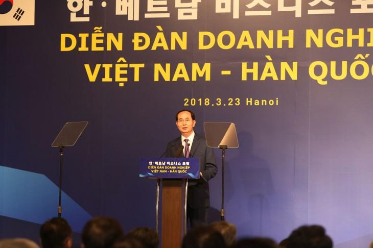 越韩企业论坛举行 - ảnh 1