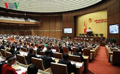 越南14届国会5次会议:国会讨论2017年经济社会发展计划和国家财政预算执行情况 - ảnh 1