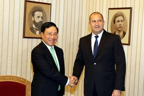 越南政府副总理兼外交部长范平明对保加利亚进行正式访问 - ảnh 1