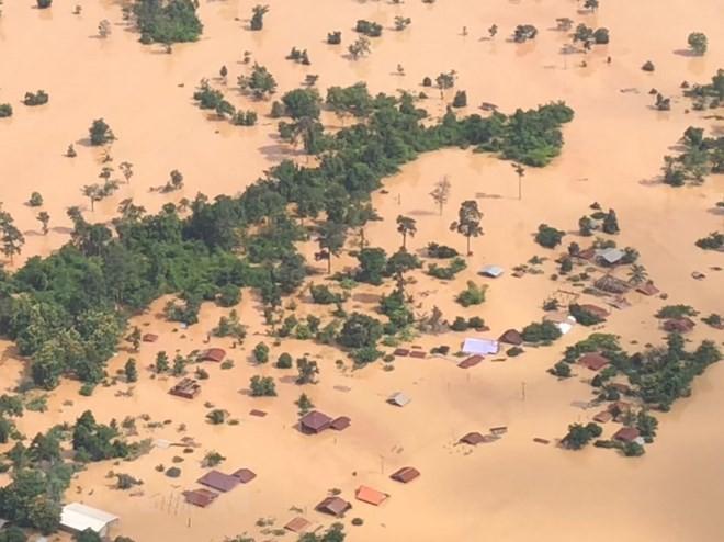 老挝水电站溃坝:老挝政府宣布萨南赛县为紧急灾区 - ảnh 1
