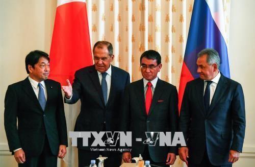 """日本和俄罗斯第三轮外长防长""""2+2""""磋商举行 - ảnh 1"""