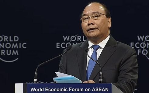 """2018 WEF ASEAN举行题为""""东盟在第四次工业革命中的各项优先""""的全体会议 - ảnh 1"""