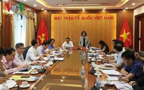 越共中央民运部部长张氏梅与越南祖国阵线党组座谈 - ảnh 1