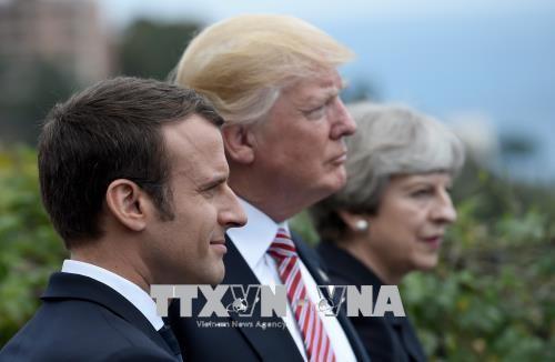 Trump évoque les frappes en Syrie avec les dirigeants français et anglais - ảnh 1