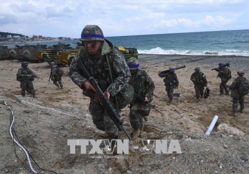 Séoul et Washington vont suspendre les exercices militaires le jour du sommet intercoréen - ảnh 1