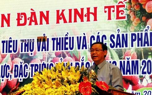 Vuong Dinh Huê: litchis de Bac Giang, bonne récolte, bon prix - ảnh 1