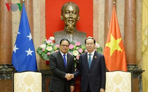 Trân Dai Quang reçoit le président du Congrès des États fédérés de Micronésie - ảnh 1