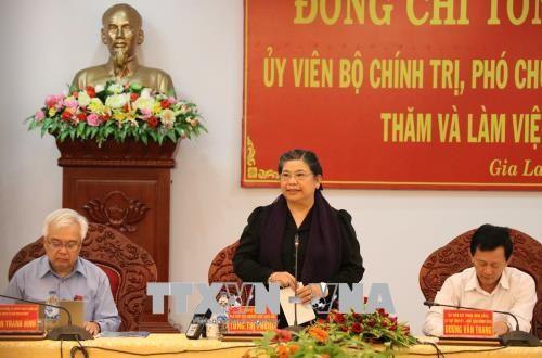 La vice-présidente de l'Assemblée nationale Tong Thi Phong à Gia Lai - ảnh 1