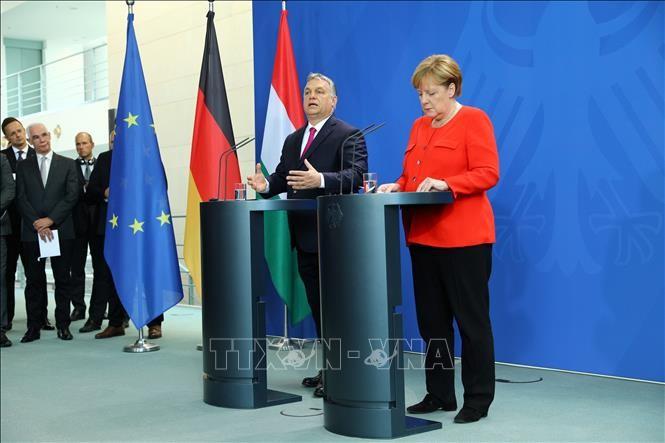 Angela Merkel et Viktor Orban s'opposent sur les «valeurs» de l'Europe - ảnh 1