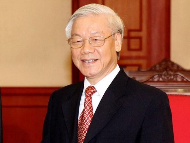 Message de félicitation de Nguyên Phu Trong au Parti du Peuple cambodgien - ảnh 1