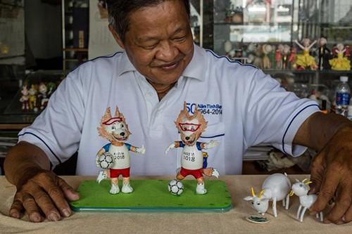 Nguyên Thanh Tâm et sa collection de mascottes à partir de coquilles d'œufs - ảnh 4