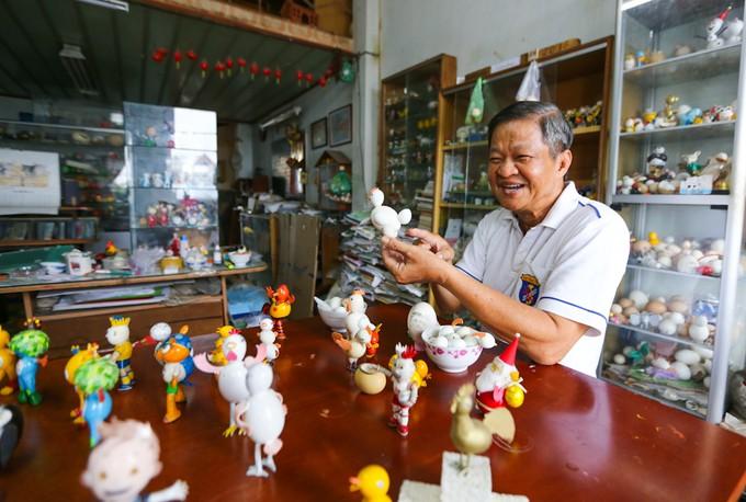 Nguyên Thanh Tâm et sa collection de mascottes à partir de coquilles d'œufs - ảnh 2