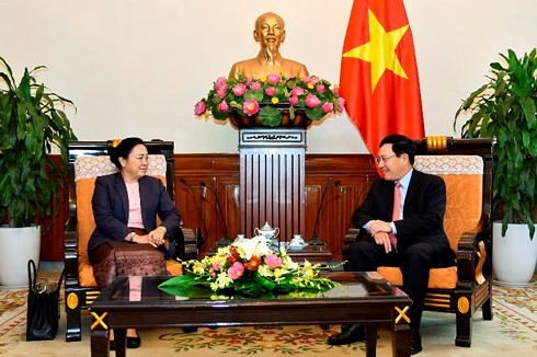 La vice-ministre laotienne des Affaires étrangères reçue par Pham Binh Minh - ảnh 1