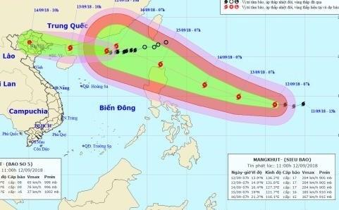 Le Vietnam se prépare à l'arrivée du typhon Mangkhut - ảnh 1