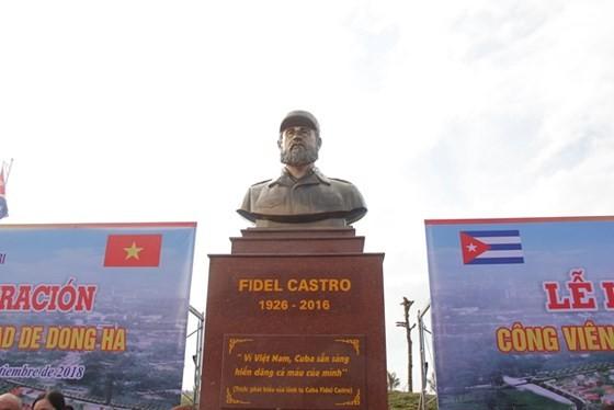 45e anniversaire de la visite de Fidel Castro à Quang Tri : inauguration du parc Fidel - ảnh 1