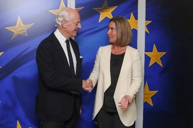L'ONU et l'Union européenne cherchent une solution au conflit syrien - ảnh 1