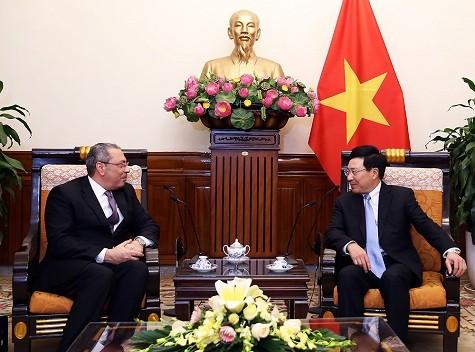 L'ambassadeur égyptien reçu par le vice-Premier ministre Pham Binh Minh - ảnh 1