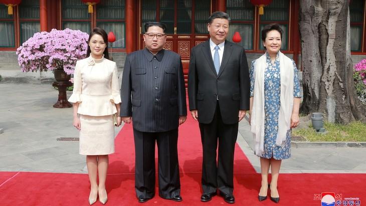Xi Jinping en visite à Pyongyang pour consolider ses liens avec Kim Jong-un - ảnh 1