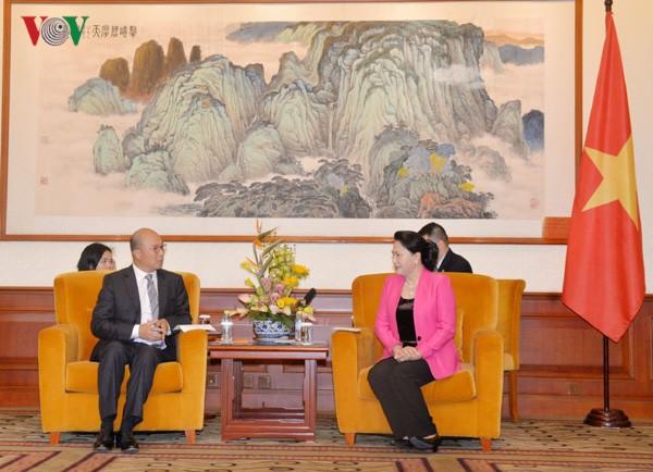 Nguyên Thi Kim Ngân reçoit des chefs d'entreprises chinois - ảnh 1