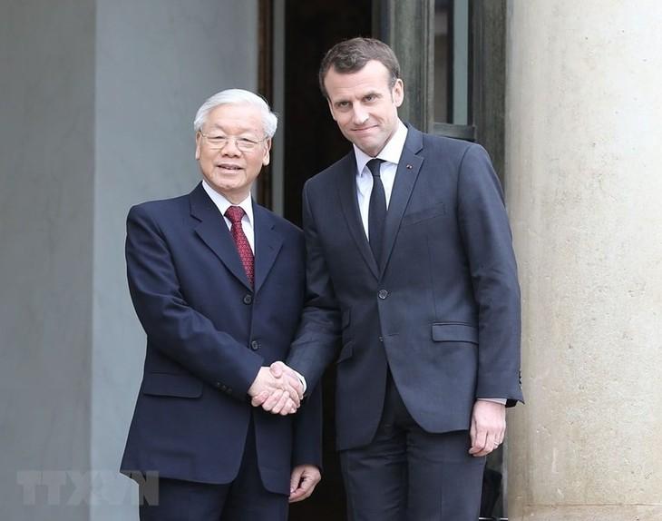 Fête nationale française : Message de félicitations de Nguyên Phu Trong à Emmanuel Macron - ảnh 1